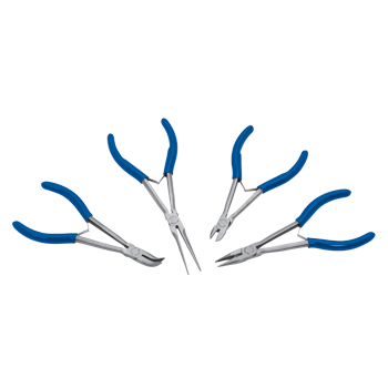 Pliers Set, Miniature Long Reach, 4pcs